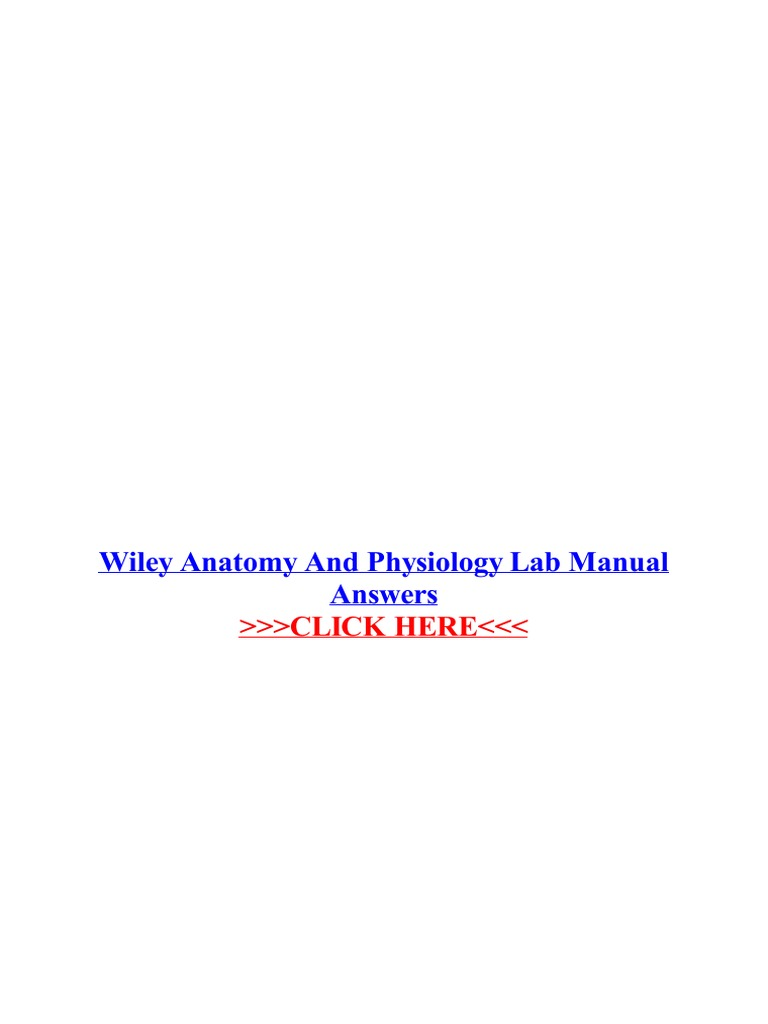 Wiley anatomy and physiology lab manual answers john wiley sons wiley anatomy and physiology lab manual answers john wiley sons laboratories fandeluxe Gallery