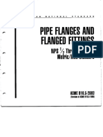 Pipe Flanges and Flanged Fittings ASME B16