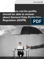 Nfp 10 Questions Gdpr Checklist