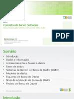 Aula 01 Conceitos Introdutc3b3rios de Banco de Dados