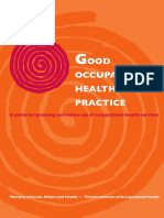 Good Occupational Health Practice
