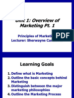 Unit 1 Principles of Marketing