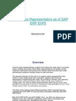 Internal Sales Representative as of SAP ERP EhP5(New)