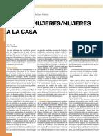 Ana Villar, Caza de mujeres/mujeres a la casa