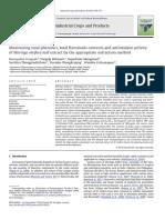 Maximizing Total Phenolics Total Flavono