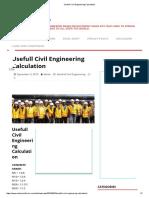 Usefull Civil Engineering Calculation.pdf