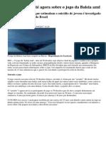 O Que Se Sabe Até Agora Sobre o Jogo Da Baleia Azul