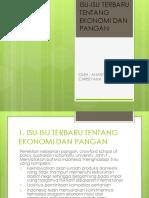 Isu-Isu Terbaru Tentang Ekonomi Dan Pangan by Ananta