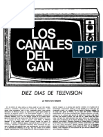 Sarlo Beatriz, Diez Días de Televisión (Los Grande Canales Del GAN) Mejor Edicion