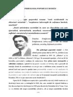 Din Psihologia Poporului Român - Dimitrie Drăghicescu
