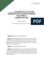Memoria preliminar de la actuación arqueológica en la Fuente del Pinar