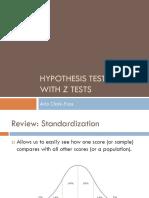 Hypothesis Testing - z Test