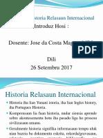 Historia Relasaun INternacional
