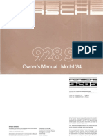 Porsche 1928 1984 Owners Manual