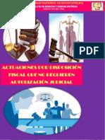 Derecho Procesal Penal Actuaciones Por Disposición Fiscal Que No Requieren Autorización Judicial