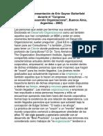 Cambio y DO- Intervenciones Ind-grup y Organizacionales