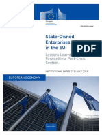 State-Owned Enterprises in Member States- Lessons Learnt and Ways Forward in a Post-Crisis Context