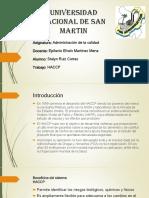 Diapositiva de HACCP