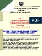 Grand Strategy Implementasi Otda - 1
