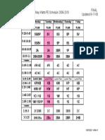 My schedule 2010-2011