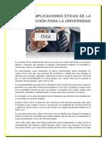 IMPLICACIONES ÉTICAS DE LA GLOBALIZACIÓN PARA LA UNIVERSIDAD