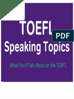 TOEFL Speaking 1 & 2