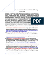 Heretical Discoveries and Corrections to General Relativity Theory