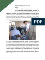 ARTICULO Conformación Del Museo Regional de Tapacarí