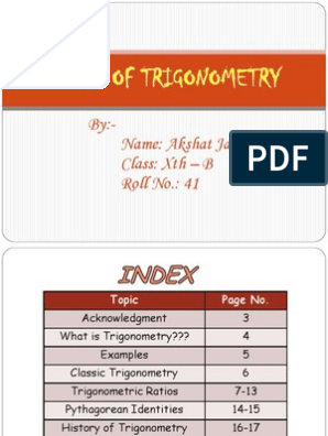 Story of Trigonometry | Trigonometry | Trigonometric Functions