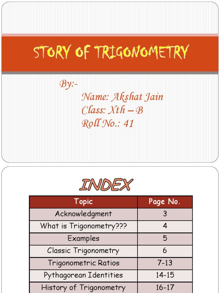 Story Of Trigonometry Trigonometry Trigonometric Functions
