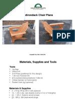 Adirondike Chair Tutorial Plans 1