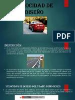 Velocidad de Diseño Dg