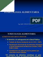 TOXICOLOGIA ALIMENTARIA AGROINDUSTRIAL
