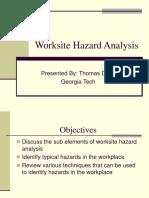 Worksite Haz Analysis 2