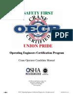 OECP Crane Operator Candidate Manual
