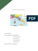 Proceso de Unificacion de Italia