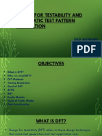 Design for Testability and Automatic Test Pattern Generation