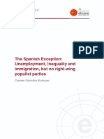 WP3 2017 GonzalezEnriquez Spanish Exception Unemployment Inequality Inmigration No Right Wing Populist Parties