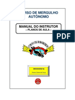 Curso de Mergulho Manual Do Instrutor