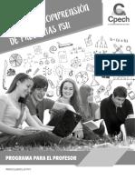 Programa Taller de Comprensión de Preguntas PSU 2017