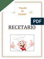 Recetario Taller Cocina