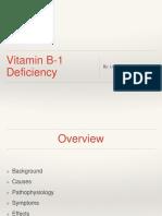 Thiamine Deficiency