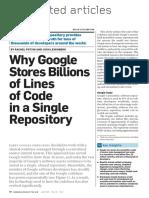 Google's Monolithic Repository