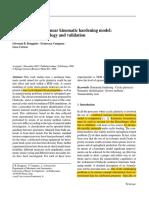 Chaboche NLK Hardening Model Calibration Methodology