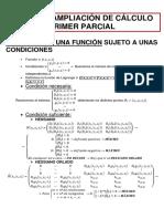 Resumen de Ampliación de Cálculo 1º Parcial