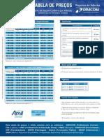 Tabela de preco AMil - Divicom