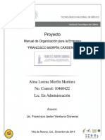 Ejemplo de Un Manual Organizacional