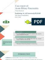 Acute Biliary Pancreatitis