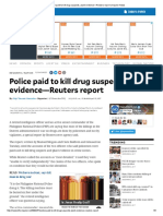 Police Paid to Kill Drug Suspects, Plant Evidence—Reuters Report _ Inquirer News