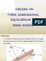 B16 Statics_Equilibrium of Rigid Bodies in Three Dimensions - Problems